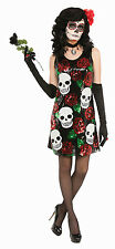 Day of the Dead Skull & Rose Sequin Sexy Costume Dress XS/S 2-6
