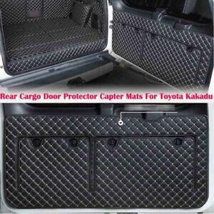Black Rear Cargo Door Protector Capter Mats For Toyota Land Cruiser Prado