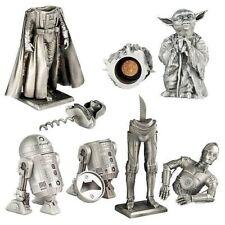 Star Wars Pewter Barware Set C3PO, YODA, DARTH VADER, R2-D2 EXTREMELY RARE NEW