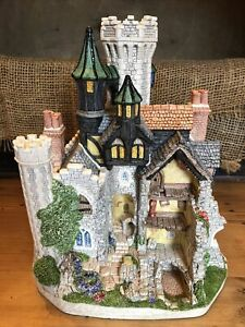 Black Roc Castle Bones David Winter Cottages With Box Coa Very Rare #'d 400