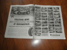 INDY 500 -FIRESTONE TIRES AD-36 Consecutive Winners-1959