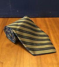 ROBERT TALBOT Nordstrom Best of Class 100% Silk Hand Sewn Blue-Gold Striped Tie