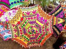 Handmade Embroidered 10 pc Parasols Indian Bridal Home Garden Decor