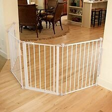 Extra Super Wide Metal Gate Baby Dog Safety Fence Playpen Expand Adjustable New