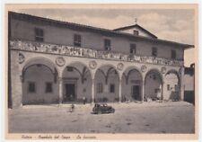 PISTOIA cartolina fg d'epoca  Ospedale del Ceppo La facciata animata