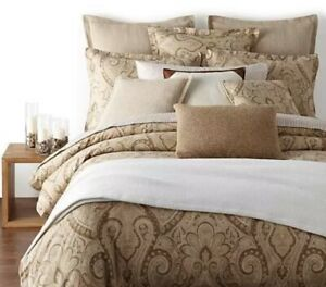 RARE RALPH Lauren *KING BED SKIRT Dust Ruffle Bedding ~DESERT SPA PAISLEY Tan