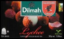 100 bustina del tè Dilmah Lychee flavoured black Fun Tea Ceylon Litschi tè Express