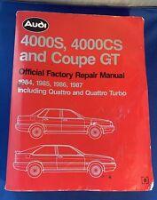 1984 1985 1986 1987 Audi 4000S 4000Cs Quattro Coupe Gt Service Repair Manual