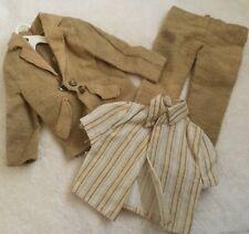 Vintage 1974 Barbie Ken Doll GUAG #7838 Brown Business Jacket Slacks Shirt~Fair