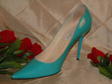JIMMY CHOO GENTLY USED TURQUOISE ANOUK POINTED TOE PUMP SZ 42  *BEAUTIFUL COLOR*