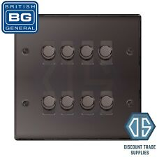 BG Black Nickel 8 Gang 2 Way Dimmer LED Compatible Custom Grid Back Box Included