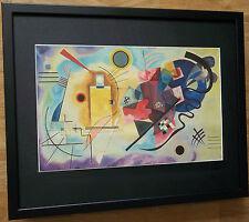 KANDINSKY Stampa - 20''x16'', incorniciato astratto Wall Art, giallo, rosso, blu