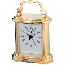 Seiko Mantel Alarm Clock Analog, Gold/Silver Case, White Face,10.9 x 7.8 x 5.3cm