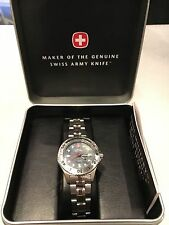 Swiss Army Wenger Stainless steel Watch 200 meters water resistance 30 mm case