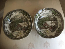 """JOHNSON BROS Friendly Village 6.25"""" Cereal Soup Bowls Lot  England NEW"""