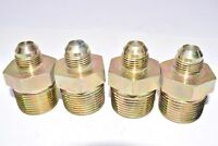 Lot of 4 NEW Brass Reducer Connector Fittings 1-1/4'' x 3/8''