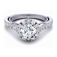 Real 14K White Gold Ring 1.00 Ct Solid Solitaire Diamond Womens Wedding Ring 5 6