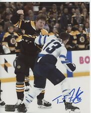 Trent Frederic Boston Bruins signed 8x10 Vertical fight shot