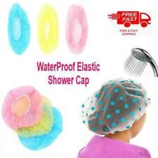 6x Elastic Waterproof Shower Cap Hat Bath Head Hair Cover Salon Shower Cap UK