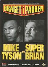 """MIKE TYSON VS BRIAN NIELSEN ON SITE BOXING PROGRAM """"RARE"""""""