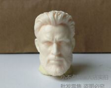 1/6 scale Captain America Head Carved Beard . Chris Evans head sculpt unpainted