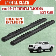 "05-17 TOYOTA Tacoma Access Cab 4"" Nerf Bar Running Board Side Step BLK Oval"