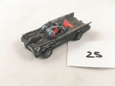 CORGI JUNIORS # 1002 BATMOBILE BATMAN DIECAST CAR BLACK 1971 CHROME WHIZZWHEELS