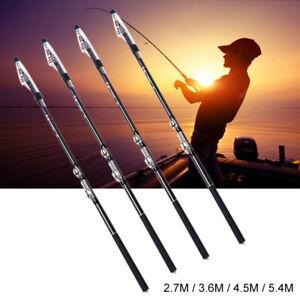 Portable Outdoor Fishing Carbon Fiber Telescopic Pole Sea Spinning Fishing Rod L
