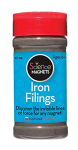 Dowling Magnets Iron Filings, Jar 12 ounces with shaker lid