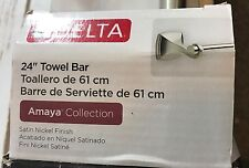 "DELTA AMA24-SN Amaya 24"" Bath Towel Bar Satin Nickel Finish"