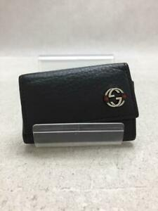 Gucci 308779 A7 Mmn 1060 6-Station Leather Leather Black Key case From Japan