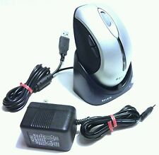 RARE NEW - BELKIN WIRELESS GAMING COMPUTER MOUSE WITH CHARGING BASE STATION
