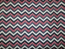 RED WHITE BLUE CHEVRON FABRIC COTTON QUILTING FABRIC PATRIOTIC FABRIC BTY NEW