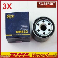 3X Oil filter For Nissan Kubistar Renault Clio 1 2 3 1,2+16V