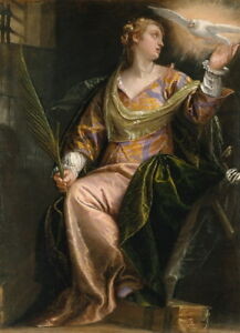Paolo Veronese Saint Catherine of Alexandria in Prison Giclee Paper Print Poster