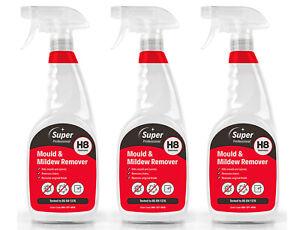Mould & Mildew Remover 3 x 750ml H8 Super Professional