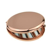 ROSE Gold Specchio Cosmetico Donna Borsetta Compatto Pieghevole Tasca Make Up XNS001