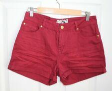 Neues AngebotDamen Red Denim Shorts Größe 10 Bnwt #g Urlaub Boho