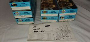 Lot of 7 VINTAGE HO Scale Athearn Blue Box Rolling Stock 62' Tankers and Kits