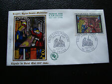 FRANCE - enveloppe 1er jour 7/10/1967 (troyes eglise ste-madeleine) (cy56)french