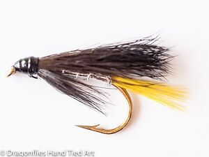 SILVER STOATS TAIL Trout Wet Fly fishing flies by Dragonflies