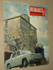 RENAULT Magazine 4 R4 4L R 8 Tracteur 1963 brochure prospectus  car prospekt
