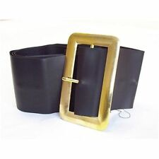 Black Belt With Large Gold Buckle Santa Father Christmas Pirate Fancy Dress