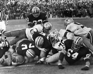 1967 Bart Starr Green Bay Packers NFL Championship ICE BOWL GAME TD 8x10 Photo
