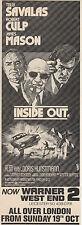 Original magazine advert(1975)Telly Savalas Robert Culp James Mason INSIDE OUT