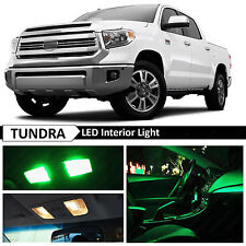 18x Green Interior LED Lights Package Kit for 2007-2016 Toyota Tundra