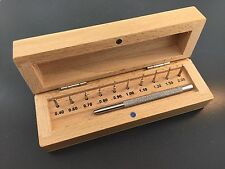 Watch Link Pin Remover Set With 10 Interchangable Pins In Wood Storage Box