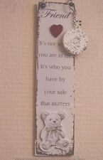 Wall Plaque Friend With Keyring It's Not Where You Are In Life Its Sign F1388F
