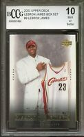 2003 Upper Deck #9 LeBron James Rookie Card BGS BCCG 10 Mint+