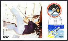 1983 Challenger NASA Space Shuttle Rocket Astronaut Gravity postcard stamped
